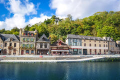 View of old tradition house  with blue sky near the river port Stock Photos