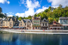 View of old tradition house  with blue sky near the river port o Royalty Free Stock Photography
