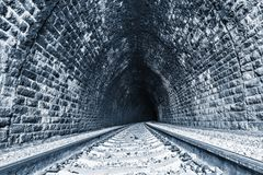 View of the old tunnel. Circum-Baikal Railway. Russia Stock Image