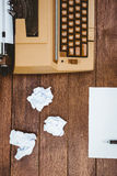View of an old typewriter and paper Royalty Free Stock Photos