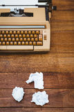 View of an old typewriter and paper Royalty Free Stock Images