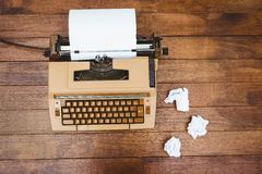 View of an old typewriter and paper Stock Images