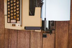 View of an old typewriter Royalty Free Stock Photo