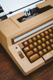 View of an old typewriter Royalty Free Stock Images