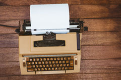 View of an old typewriter Royalty Free Stock Photography