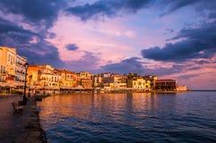 CHANIA, CRETE ISLAND, GREECE - JUNE 26, 2016: Royalty Free Stock Photos