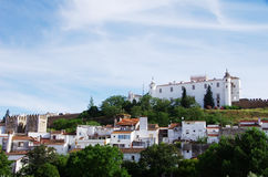 View of a old village in alentejo. Estremoz Royalty Free Stock Photography