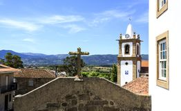Caria – View of the Old Village and Beyond Royalty Free Stock Photography
