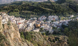 View of an old village of Lucania. Panoramic view of an old village of Lucania stock image