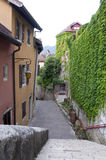 View for Old Village steps Stock Photography
