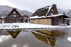 View of the old village in Takayama, Japan Royalty Free Stock Images