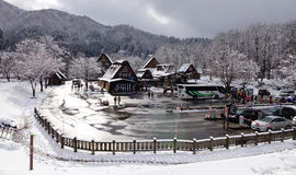 View of the old village in Takayama, Japan Stock Photo