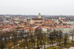 View of the old Vilnius from Gediminas Tower Royalty Free Stock Images
