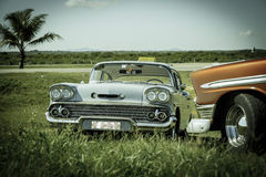 View of old vintage retro classic cars Stock Photos