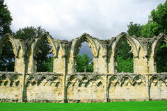 View of old wall in york,uk royalty free stock images