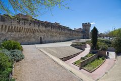 Old walls - Fortifications of Avignon - Camargue - Provence - France royalty free stock photography