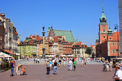 View of old Warsaw. On the square Royalty Free Stock Photography
