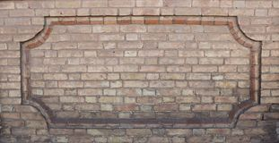 Brickwork fence in the form of a large frame. Built in the 19th and 20th centuries. royalty free stock image