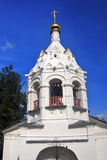 View of old white orthodox church in Sergiev Posad, Russia. Royalty Free Stock Photography
