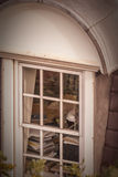 View through the old window Royalty Free Stock Photo