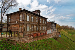 View of old wood house in Nizhny Novgorod Royalty Free Stock Photography
