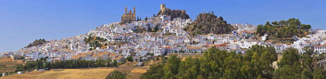 View of Olvera, one of the white villages of the province of Cadiz, Andalusia, Spain. Stock Photography