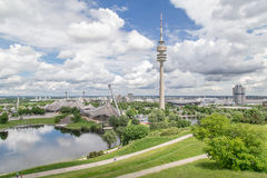 View of the Olympiapark, Munich Royalty Free Stock Photo