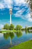 View on Olympiapark with Olympic tower at Munich, Bavaria, Germa Stock Image