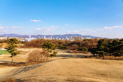 View of Olympic Park in Seoul on a sunny day Royalty Free Stock Photography