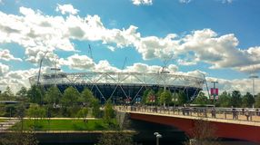View of the Olympic Stadium - the legacy of the Games it was clo stock photography