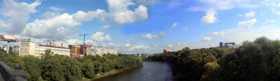 View on Om river Royalty Free Stock Photo