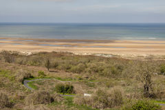 View on Omaha beach - Nromandy, France. Royalty Free Stock Photo