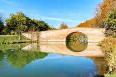 Free View On A Bridge On The Canal Du Midi Royalty Free Stock Image - 160606976