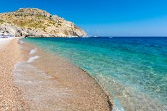 Free View On Afandou Beach On Rhodes Island In Greece Royalty Free Stock Photos - 144924018