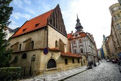 Free View On Ancient Old New Synagogue, Prague, Czech Republic Royalty Free Stock Images - 143545729