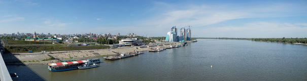 Free View On Barnaul From Ob River Royalty Free Stock Image - 45732046