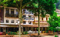 Free View On Colorful Colonial Buildings At Central Square Of Village Jerico In Colombia Royalty Free Stock Images - 158125759