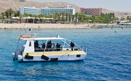 Free View On Coral Reef And Diver Boat, Eilat Royalty Free Stock Images - 20140799