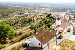 Free View On Evoramonte Village Houses From Castle Royalty Free Stock Photo - 104026335