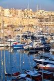 View On Malta Bay Between Kalkara And Birgu At Morning Stock Photo
