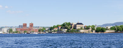 Free View On Oslo Fjord Harbor And Akershus Fortress Panorama Stock Photography - 45518332