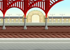 Free View On Railways In The Train Station Stock Photography - 111232802
