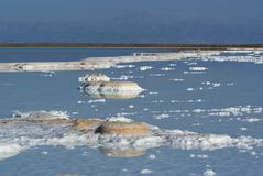 View On Salt In The Dead Sea Stock Photography
