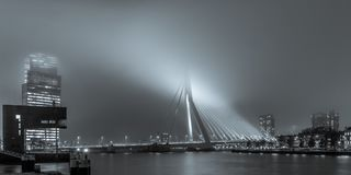 Free View On The Erasmusbridge From The Stieltjesstraas By Night And Stock Photo - 106726250