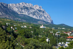 View On The Mountain Ai-Petri And Town Simeiz Stock Photos