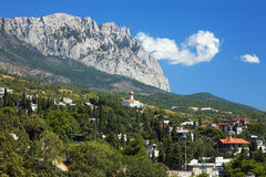 View On The Mountain Ai-Petri And Town Simeiz Royalty Free Stock Photos