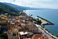 Free View On The Old Town Of Pizzo At Tyrrhenian Sea Royalty Free Stock Photo - 130464955