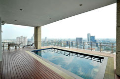 View On The Pool From The Terrace Royalty Free Stock Images