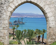 Free View On The Red Sea, Yachts And Aqaba, Eilat Israel Royalty Free Stock Photos - 42609778