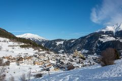 Free View On The Small Village Ladis In Ski Resort Serfaus Fiss Ladis Royalty Free Stock Photos - 107529848
